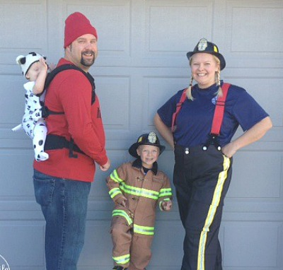 Baby wearing family costume ideas