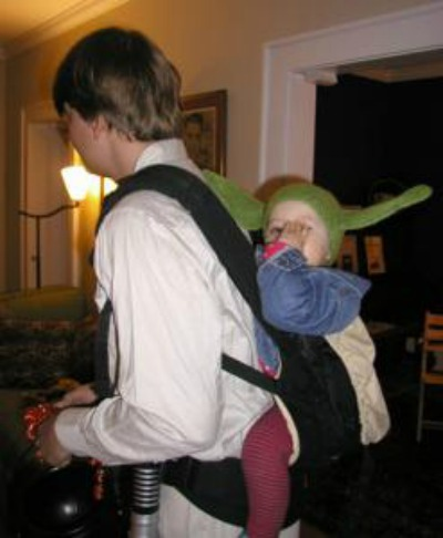 Baby wearing costumes