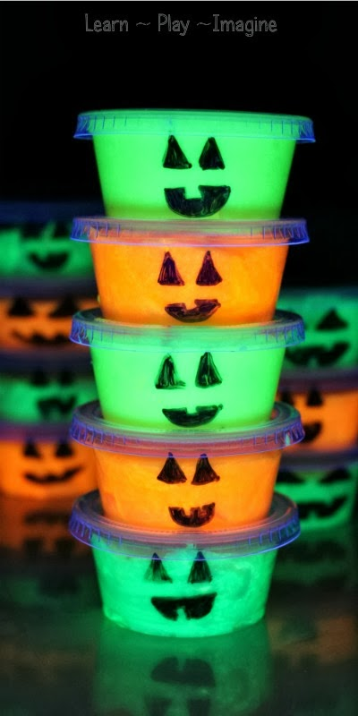 Glow in the dark pumpkin slime