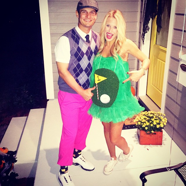 Hole-in-one maternity halloween costumes