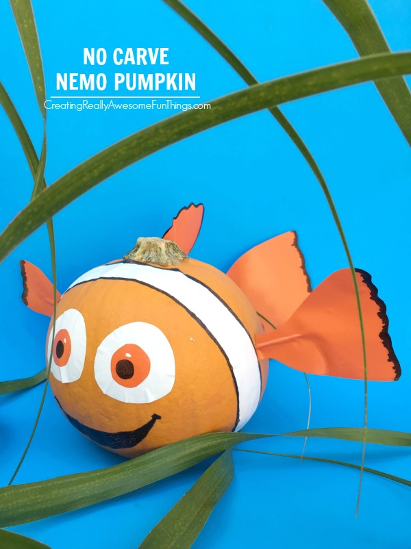 No carve Nemo Pumpkin