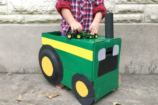 DIY Tractor costume for a toddler