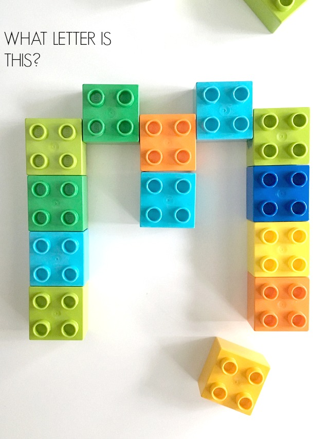 Educational ways to play Duplos with a toddler