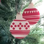 Ugly Christmas Sweater Inspired Ornaments