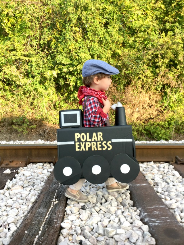 How to make a Polar Express train out of a cardboard box