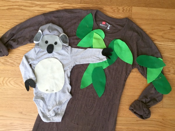 Koala bear and tree Halloween costume