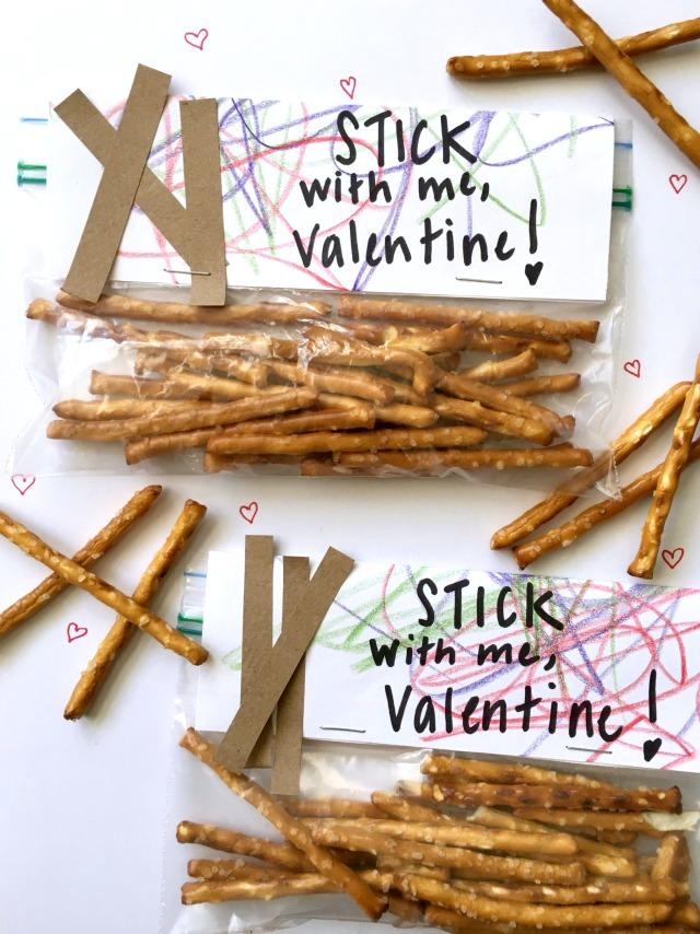 Healthy pretzel classroom Valentine