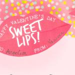 Lip Glass Valentine saying Sweet Lips