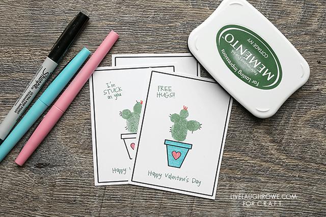 Thumbprint Cactus Valentine sayings