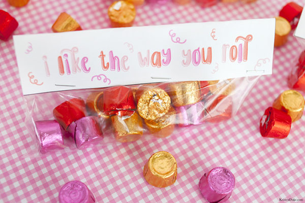 Valentine Saying with Rolo Candies