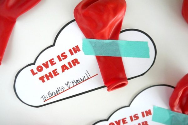 Love is in the air balloon valentine saying