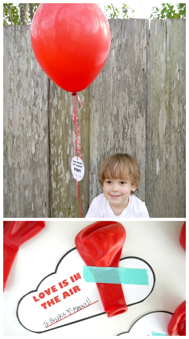 Non candy Balloon Valentine saying