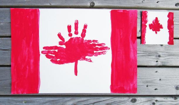 Kanada zászló kéznyom