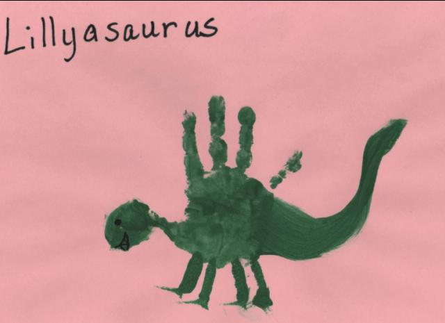 Dinoszaurusz kéznyomat művészet