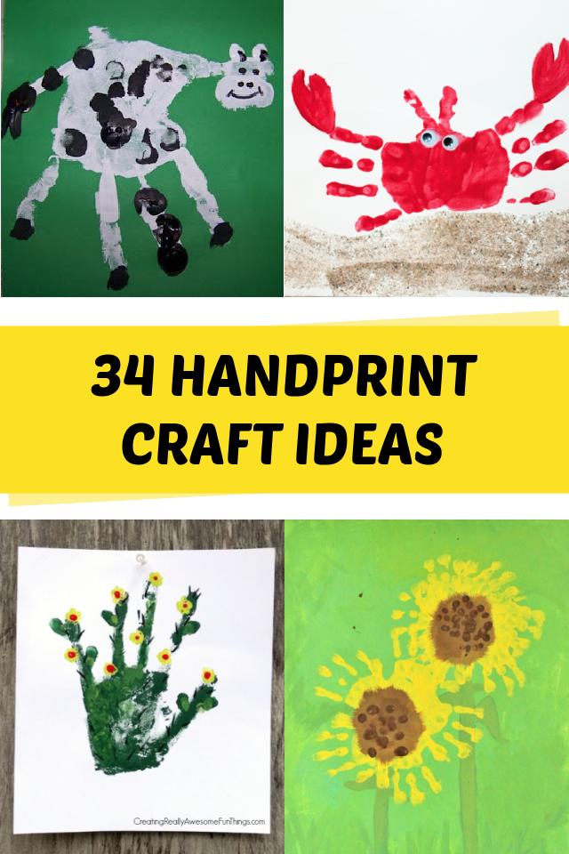 Kézlenyomat -művészeti ötletek