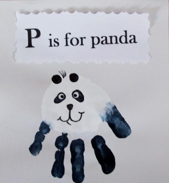 Panda kéznyomat kézműves