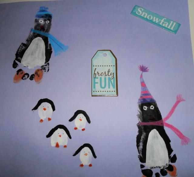 Pingvin lábnyom művészet