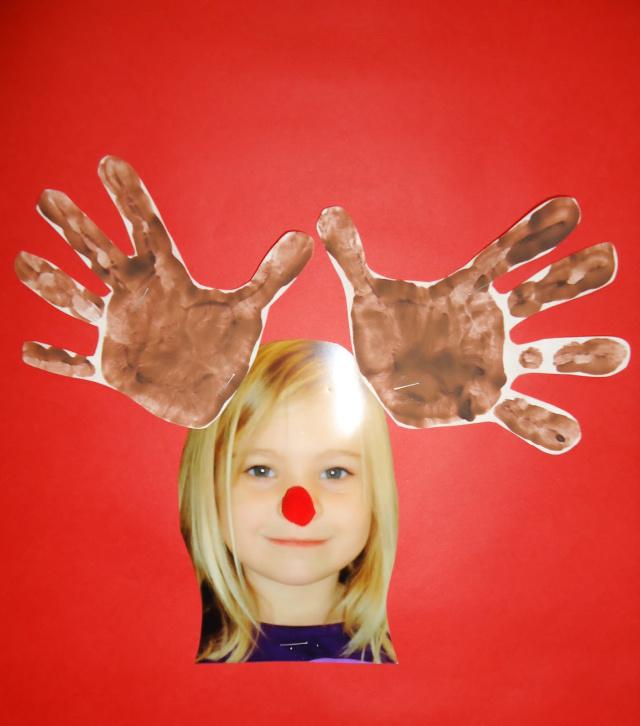 Rénszarvas kézlenyomat gyerekeknek