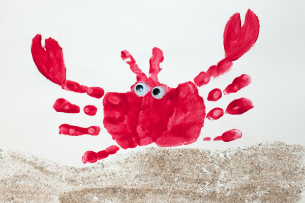 crab handprint art
