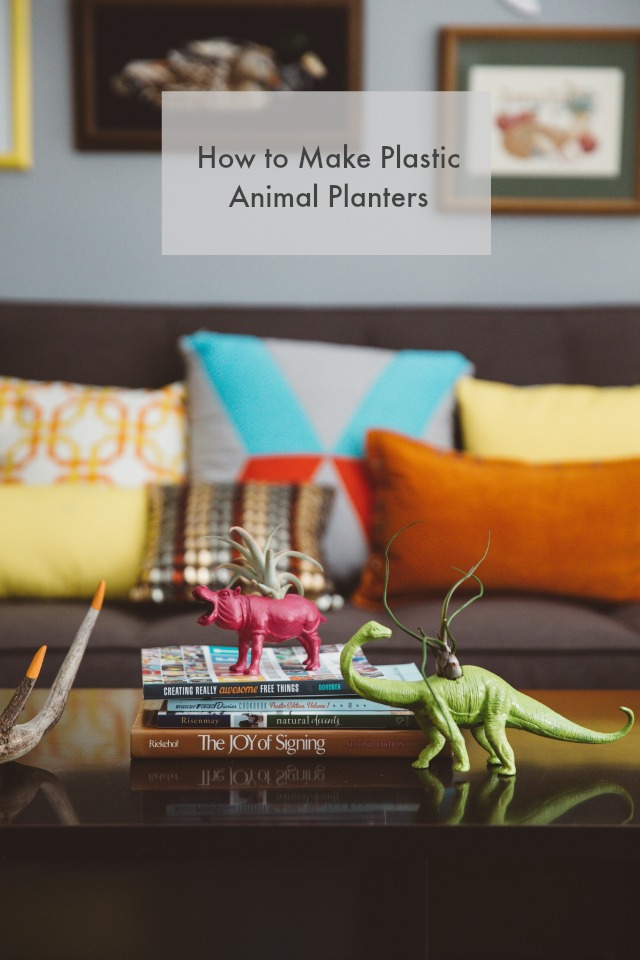 Plastic animals planters