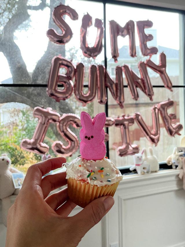 Peep bunny cupcakes