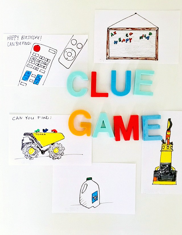 Clue game for toddlers