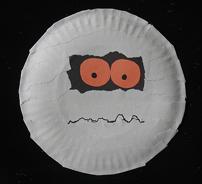 paper plate mummy craft