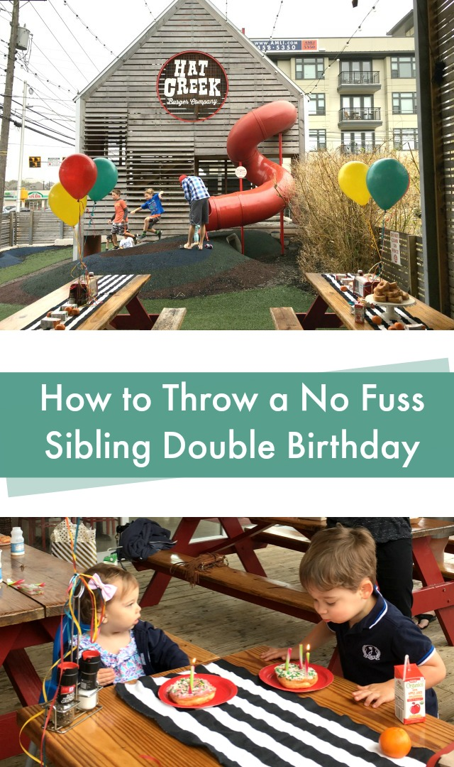 How to throw a no fuss sibling double birthday