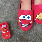 DIY Lightning McQueen Shoes