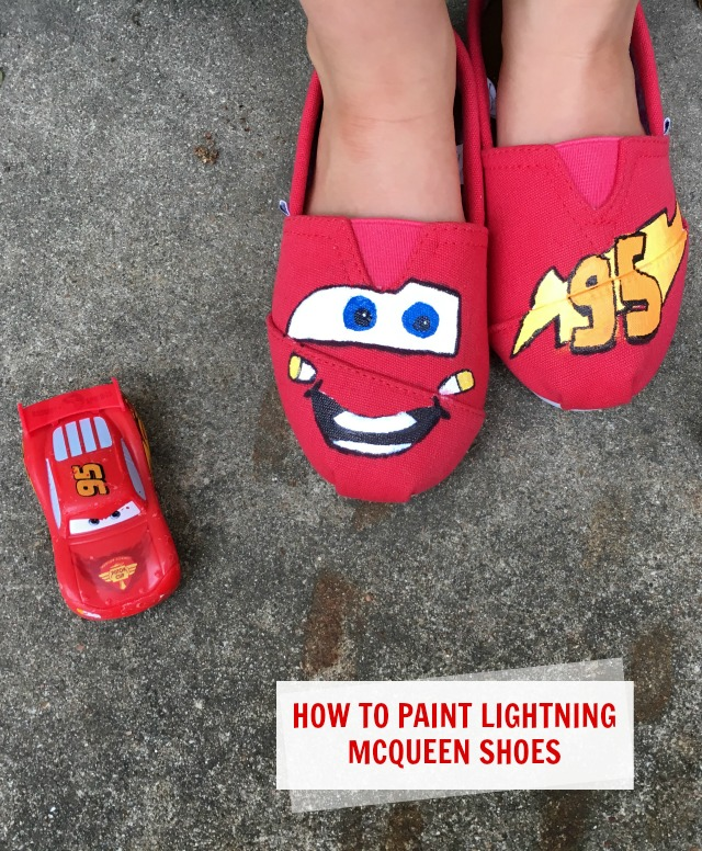 How to paint lightning mcqueen shoes