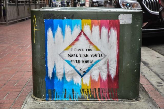Street art in the gas lamp quarter