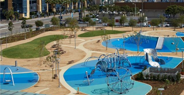 Waterfront Park in San Diego Free Splash pad