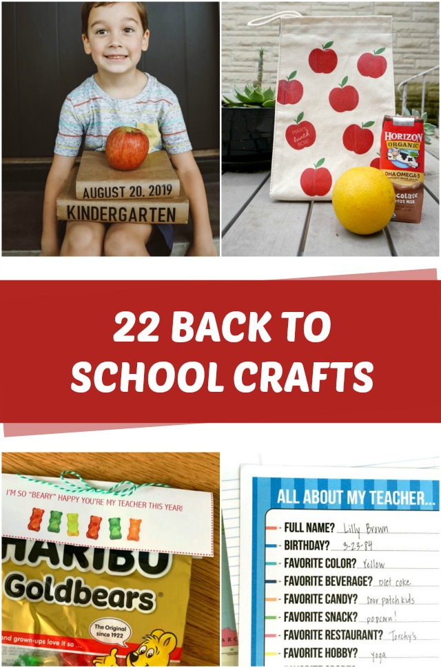 22 Back to school crafts