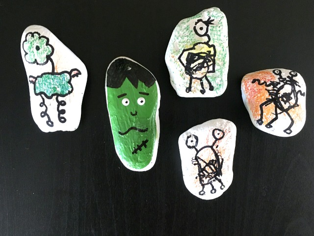 Monster rock drawings