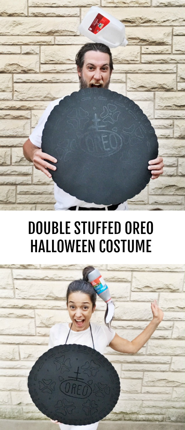 DIY Double stuffed Oreo Halloween couples costume