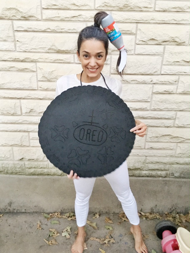 DIY Oreo Costume and crazy milk hair