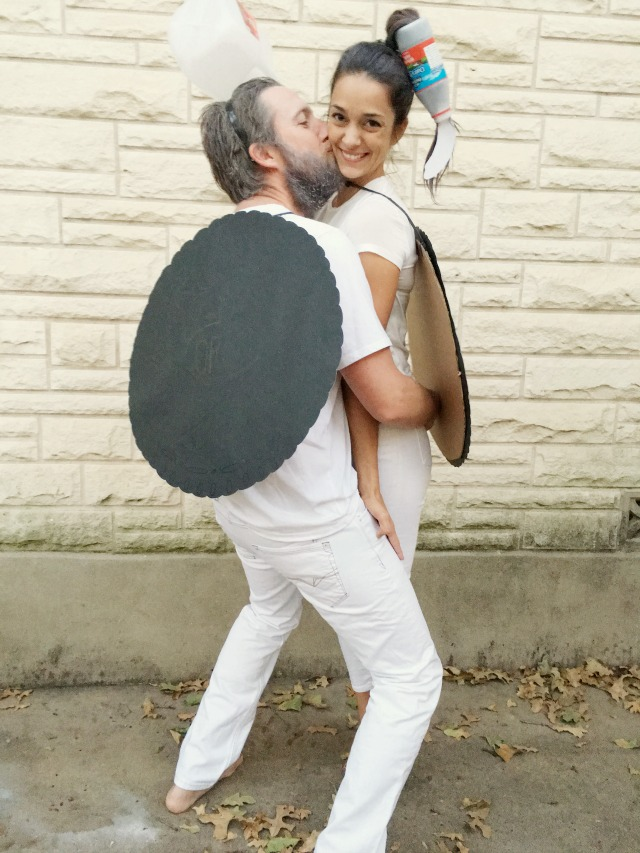 Double stuffed Oreo costume a couple costumes diy