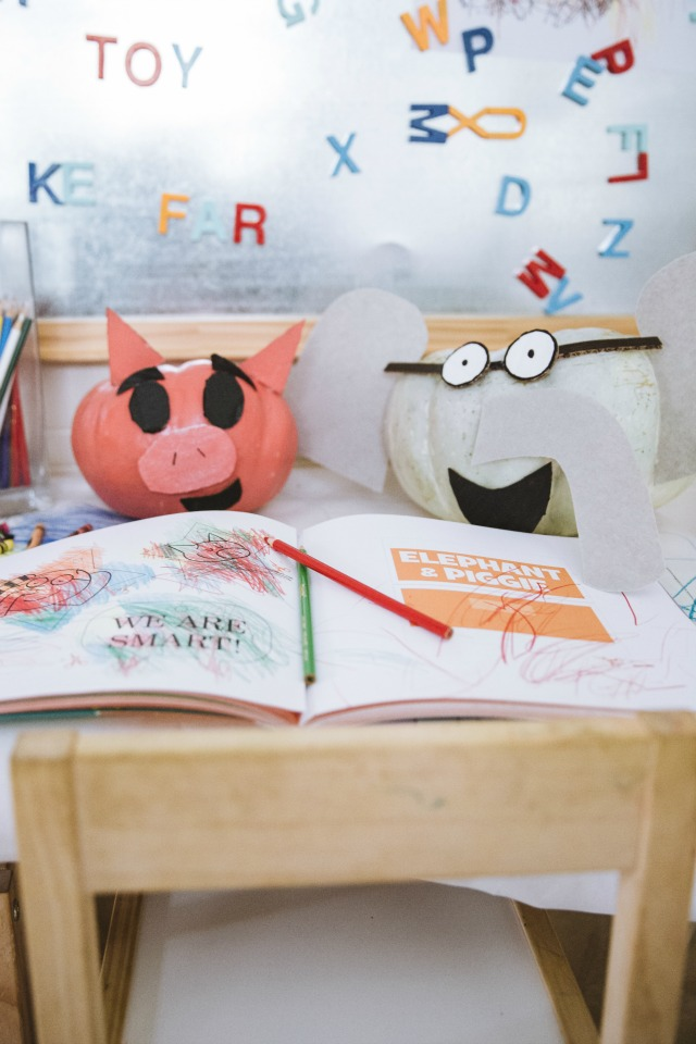 How to make Piggie and Elephant pumpkins Mo willems