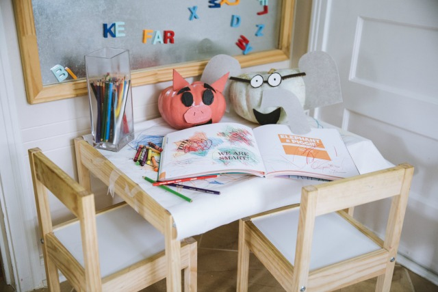 Kids art station at home