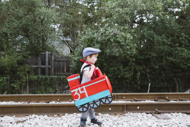 diaper box train costume