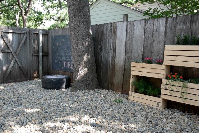 giant fence chalkboard