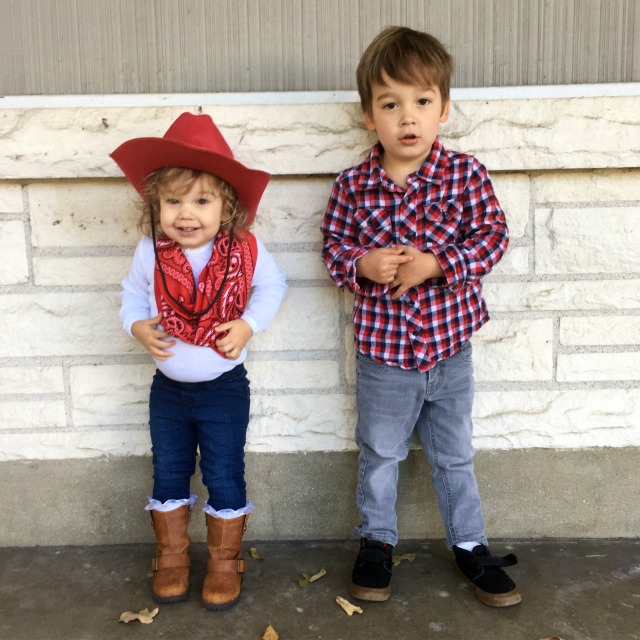 DIY Cowboy and cowgirl costumes