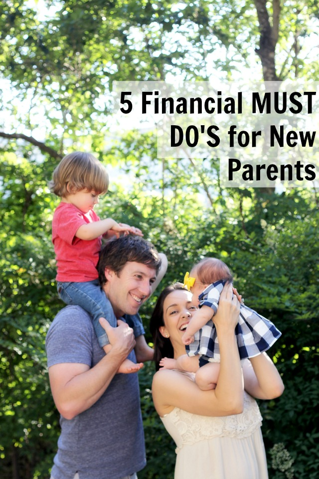 Financial must do's for new parents