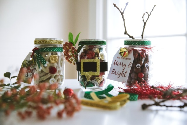 reindeer nose mason jars