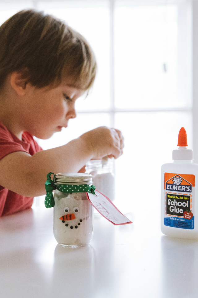 How to make snowman slime with kids