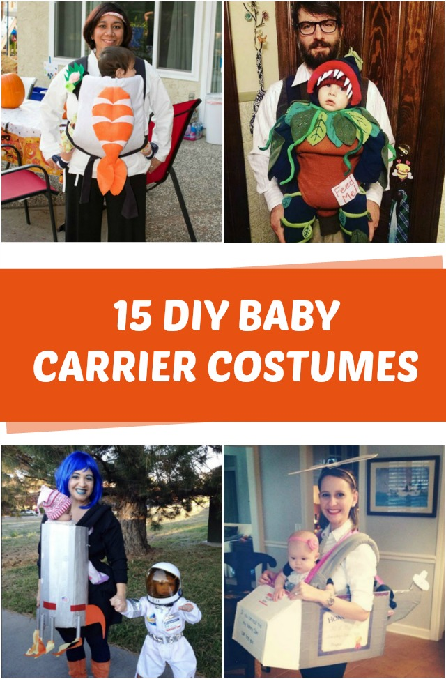 15 DIY Baby carrier costumes