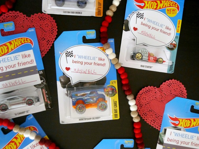 Hot Wheel Valentines for boys