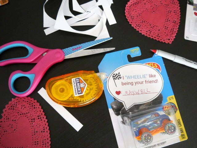 hot wheel valentines for kids
