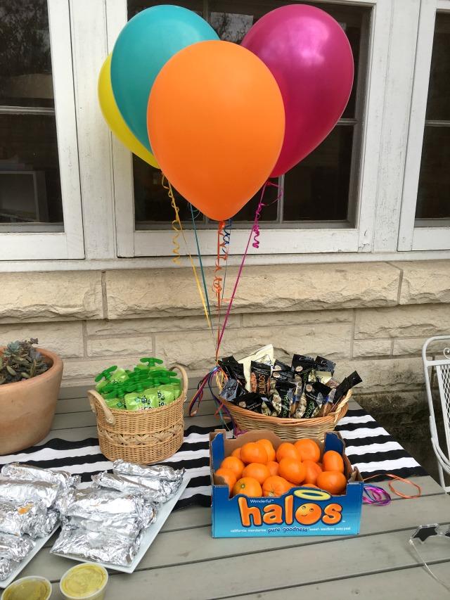 Backyard birthday party menu