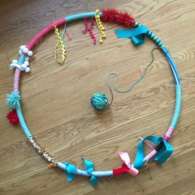 DIY Baby sensory hula hoop